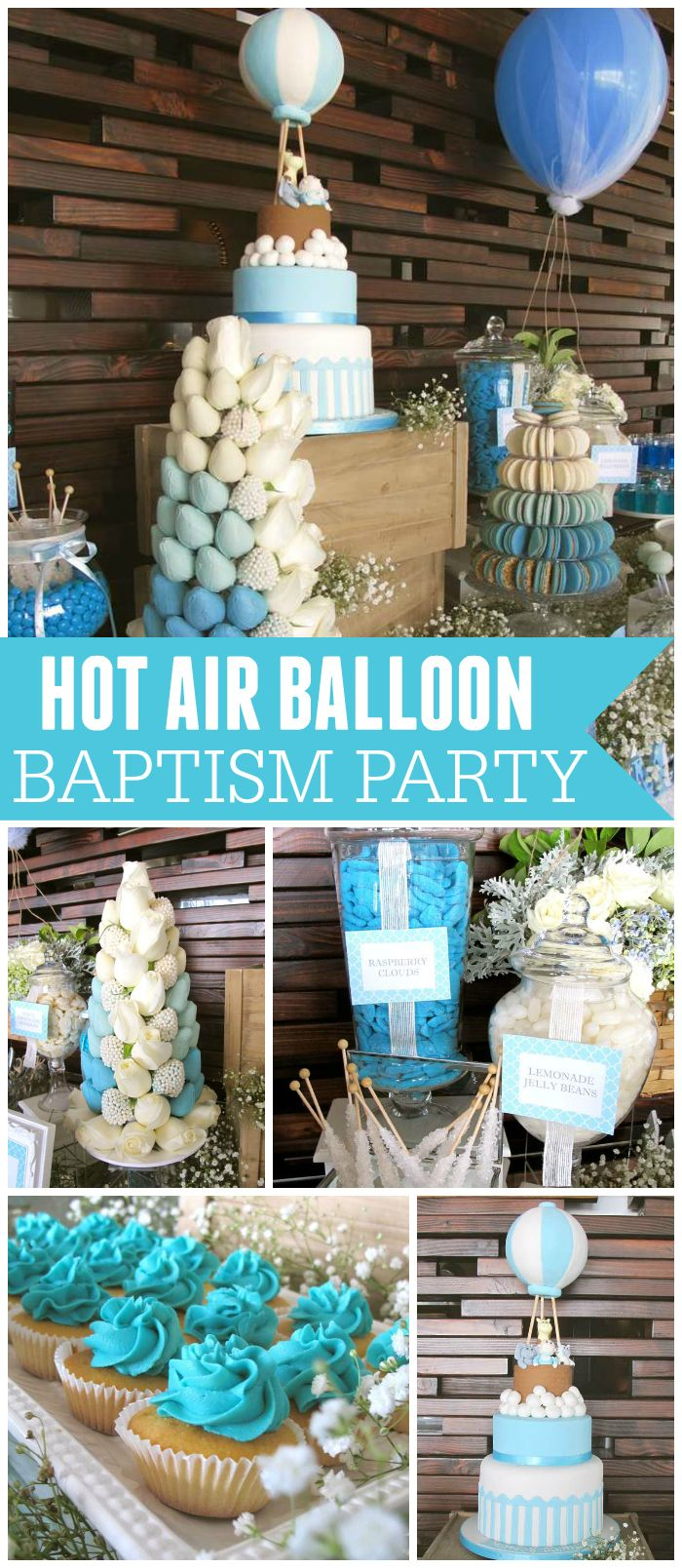 Best Such A Sweet Baptism With A Hot Air Balloon Theme See This Month