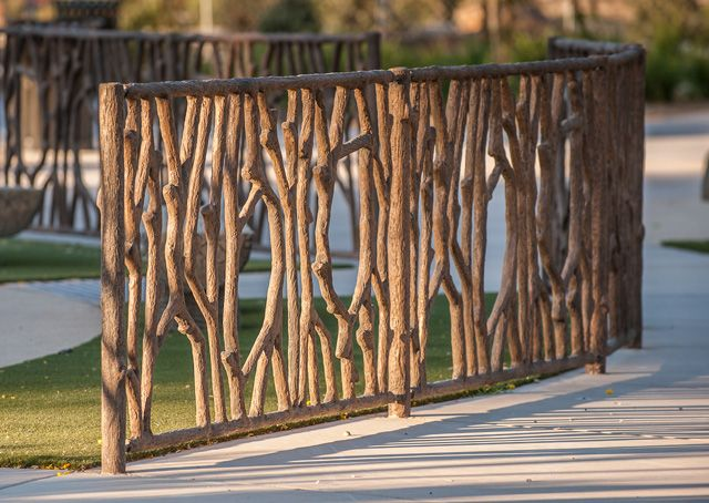 Best Tree Branch Playground Fence Durable Decorative Concrete This Month