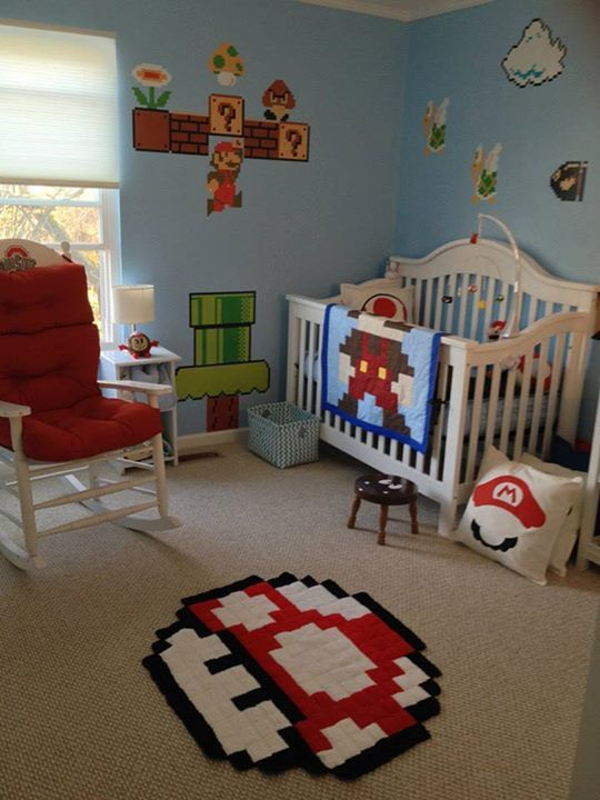 Best Super Mario Bros Themed Baby Nursery Mario Blanket This Month