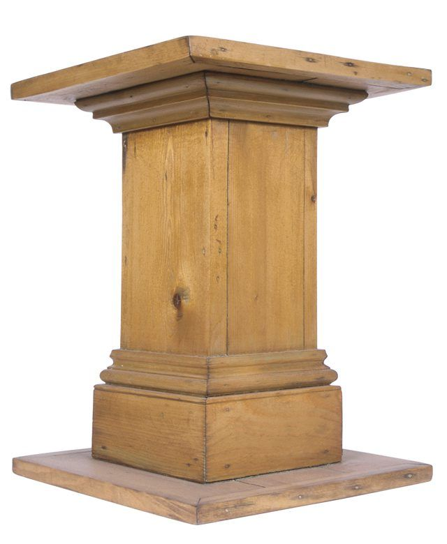 Best Diy Wood Pedestal In 2019 Diy Home Decor Wood Pedestal This Month