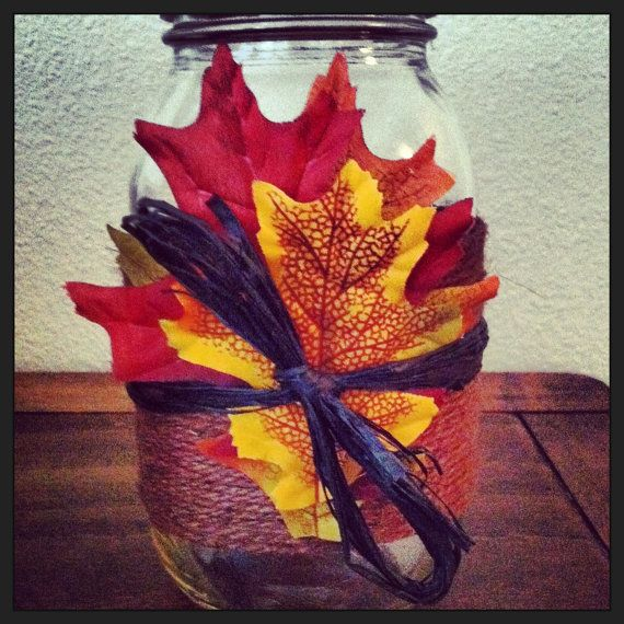 Best Hand Decorated Mason Jar Fall Harvest Thanksgiving Decor This Month