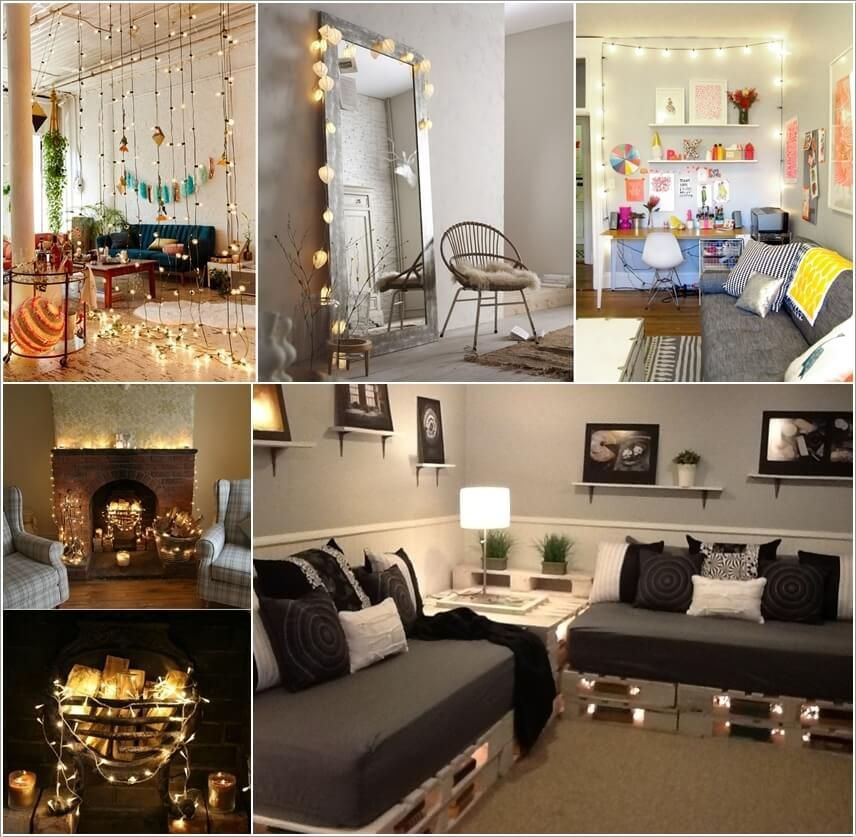 Best Decorate Your Living Room With String Lights Fav This Month