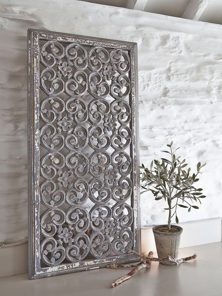 Best These Beautiful Rectangular Grey Carved Wooden Wall Panels This Month