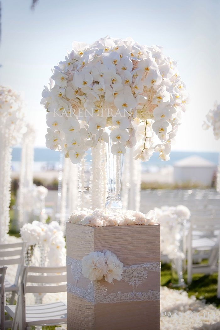 Best Orchids And Peonies For A White Reception Wedding Flowers This Month