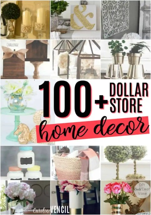 Best Dollar Store Home Decor Ideas Caroline Vencil This Month