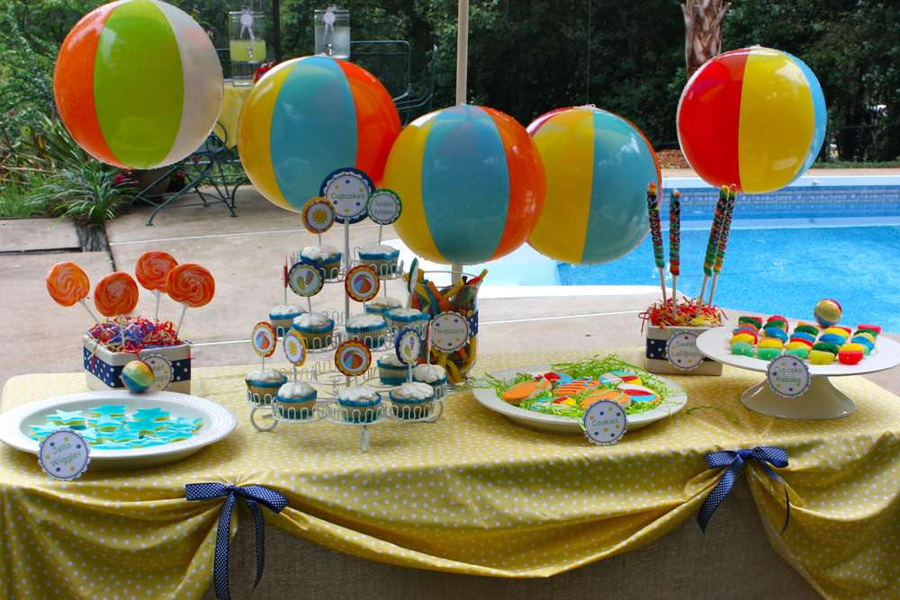 Best Pool Summer Party Ideas Photo 2 Of 16 Catch My Party This Month