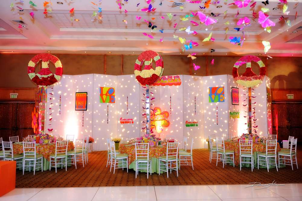 Best 60 S Hippie Theme Bar Mitzvah Party Ideas Photo 6 Of 21 This Month