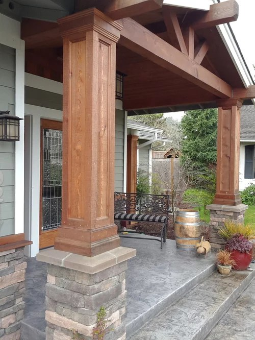 Best Decorative Cedar Columns Houzz This Month