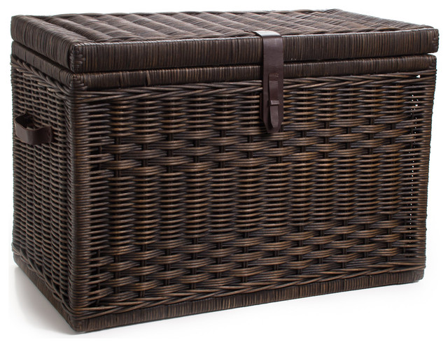 Best Wicker Storage Trunk Decorative Trunks By The Basket Lady This Month