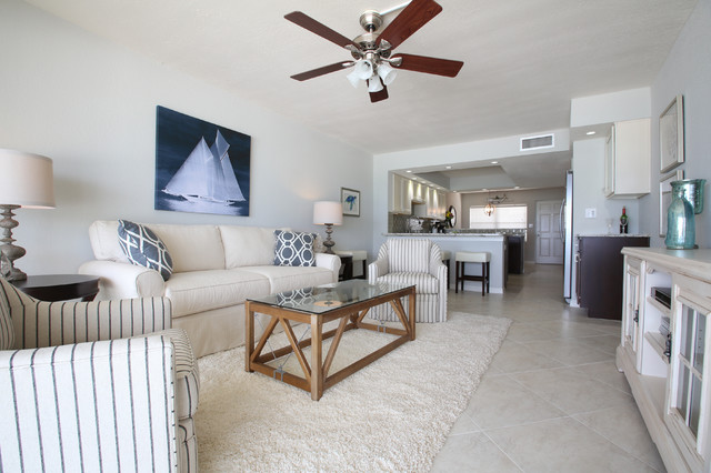 Best Vintage Florida Beach Condo Gets A Transitional Remodel This Month