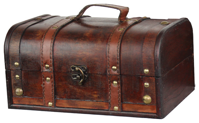 Best Decorative Wood Treasure Box Wooden Trunk Chest This Month