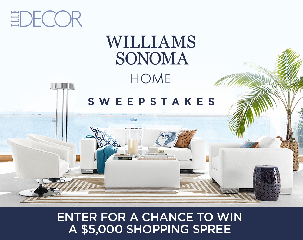 Best Elle Decor Williams Sonoma Sweepstakes This Month