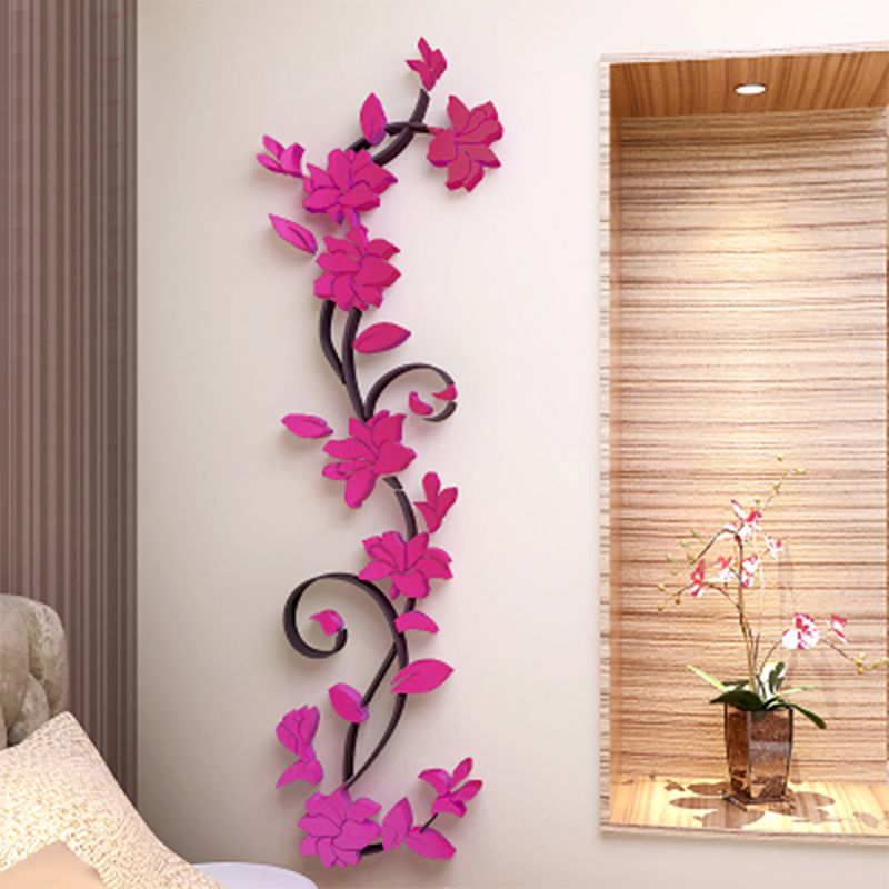Best 3D Flower Beautiful Diy Mirror Wall Decals Stickers Art This Month