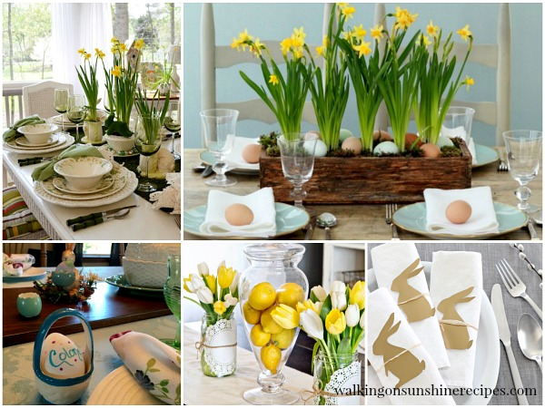Best Decorating Easter Table Settings Walking On Sunshine This Month