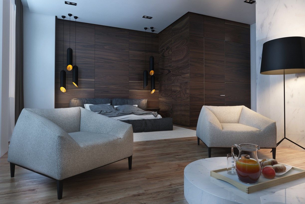 Best Creative Studio Apartment Design Ideas With Dark Color This Month