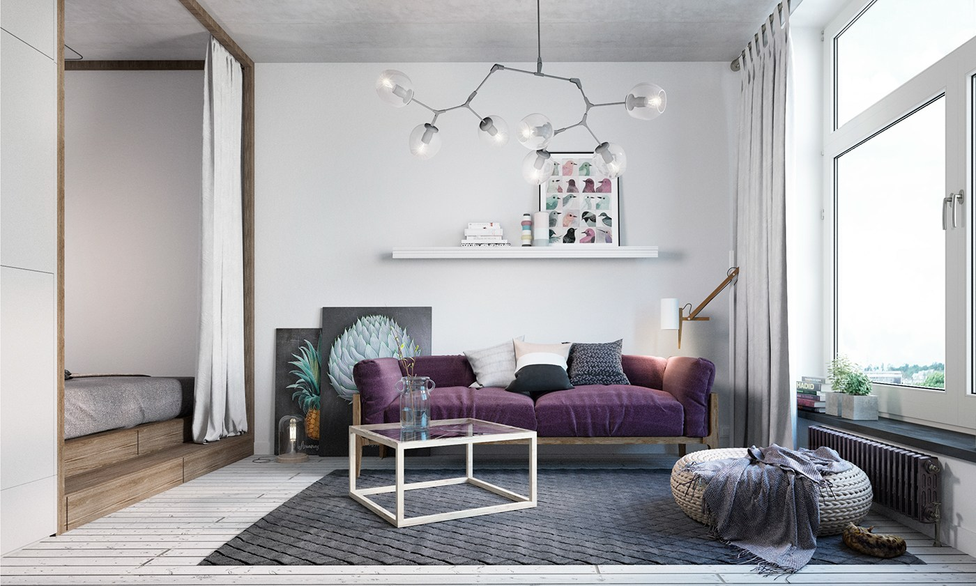 Best Small Apartment Design With Scandinavian Style That Looks This Month