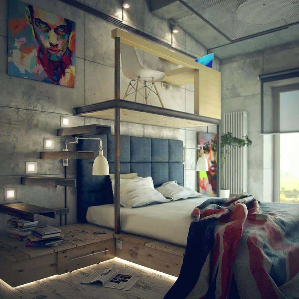 Best 35 Edgy Industrial Style Bedrooms Creating A Statement This Month