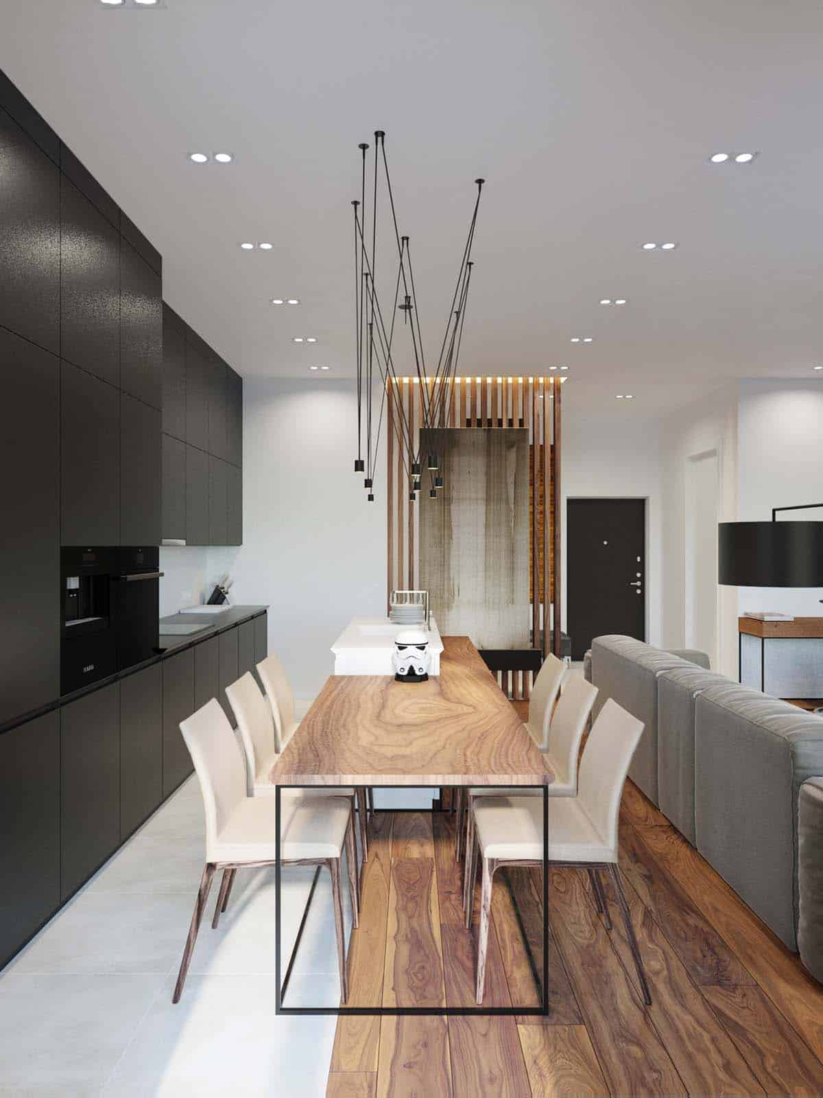 Best Modern Bachelor Pad With Dramatic Design Features In Kiev This Month