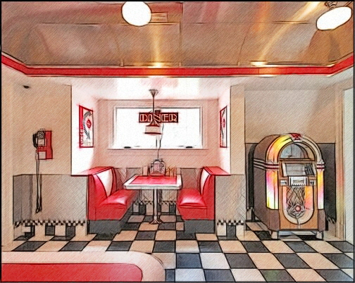 Best 46 50S Diner Wallpaper On Wallpapersafari This Month