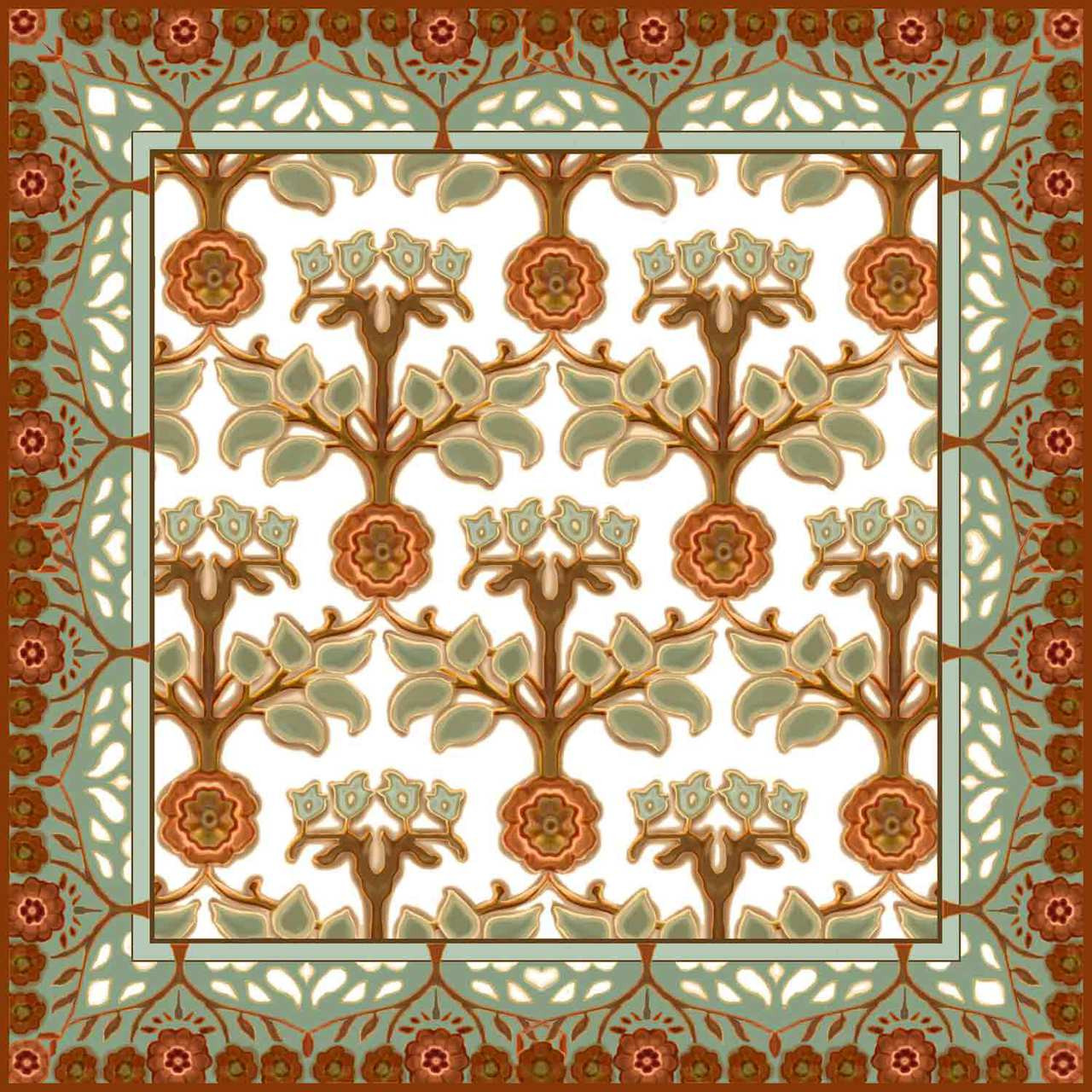 Best Medallion Rose Ii Artistic Tile Decorative Tile Designs This Month