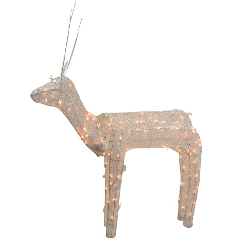 Best 48 3 D Glitter Animated Standing Buck Reindeer Lighted This Month