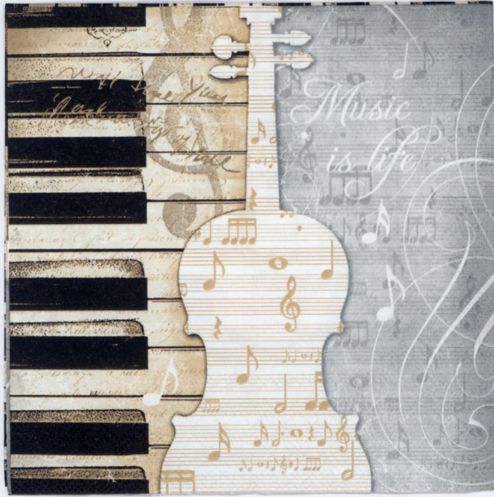 Best Decoupage Paper Of Piano Guitar On The Music Sheet This Month