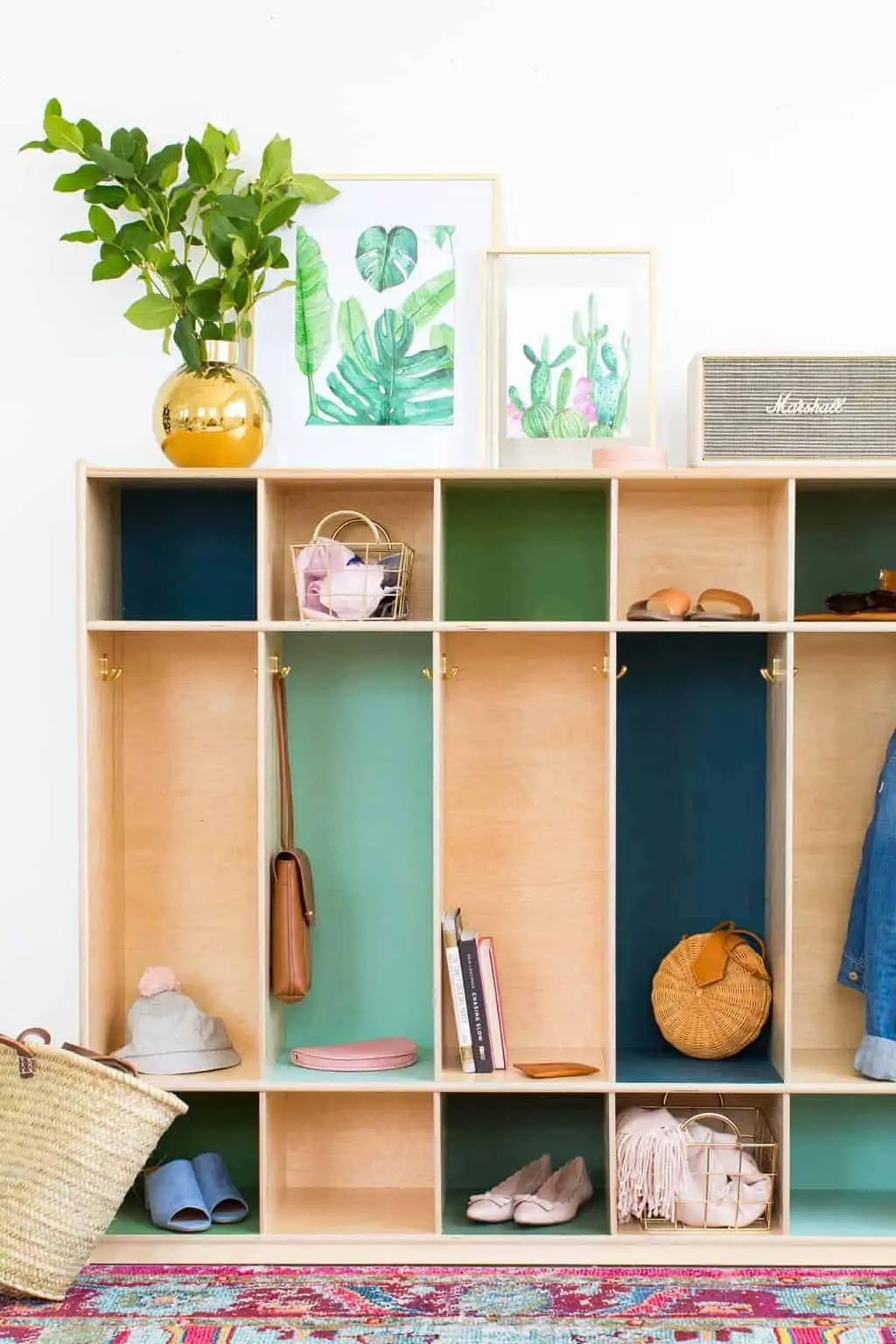 Best Diy Color Block Storage Lockers Sugar Cloth Home Decor Diy This Month