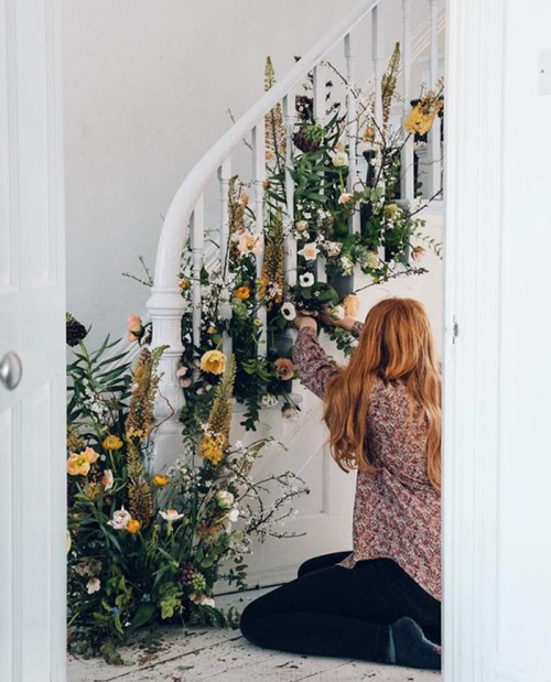 Best Diy Spring Party Floral Staircase – Design Sponge This Month