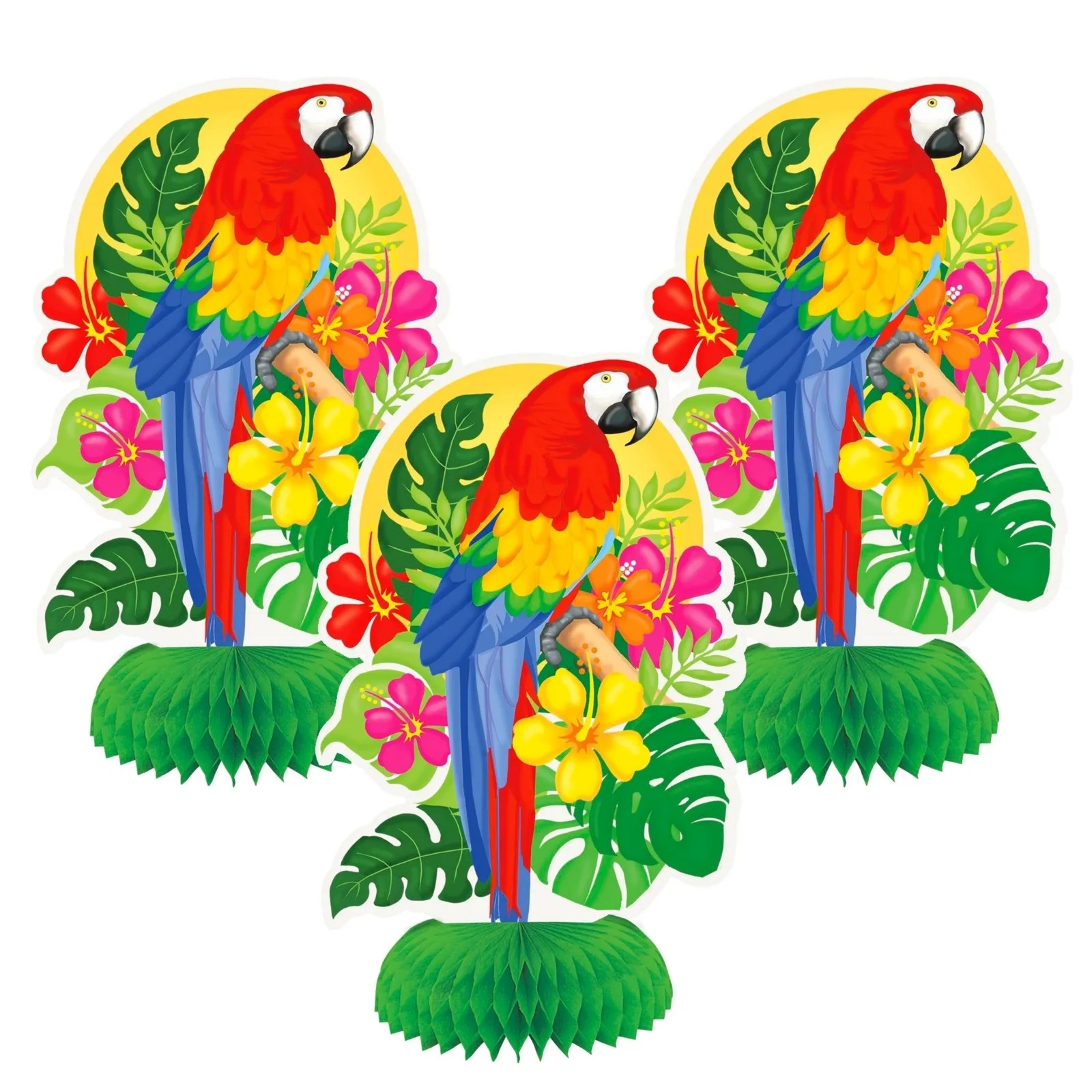 Best Tropical Island Pck Of 3 Mini Centrepiece Decorations This Month