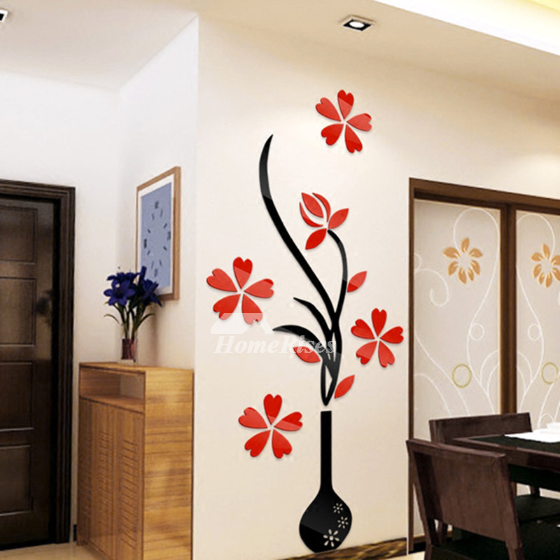 Best Flower Wall Stickers Acrylic 3D Self Adhesive Home Decor This Month