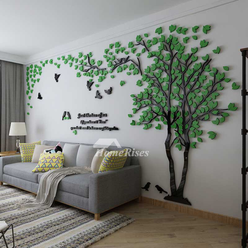 Best Tree Wall Decal 3D Living Room Green Yellow Acrylic Best This Month