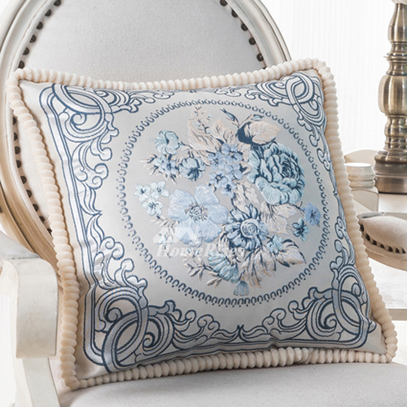 Best Big Couch Pillows Cream Burgundy Blue Square Decorative This Month