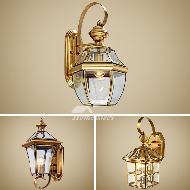 Best Outdoor Wall Sconce Lantern Exterior Brass Glass This Month