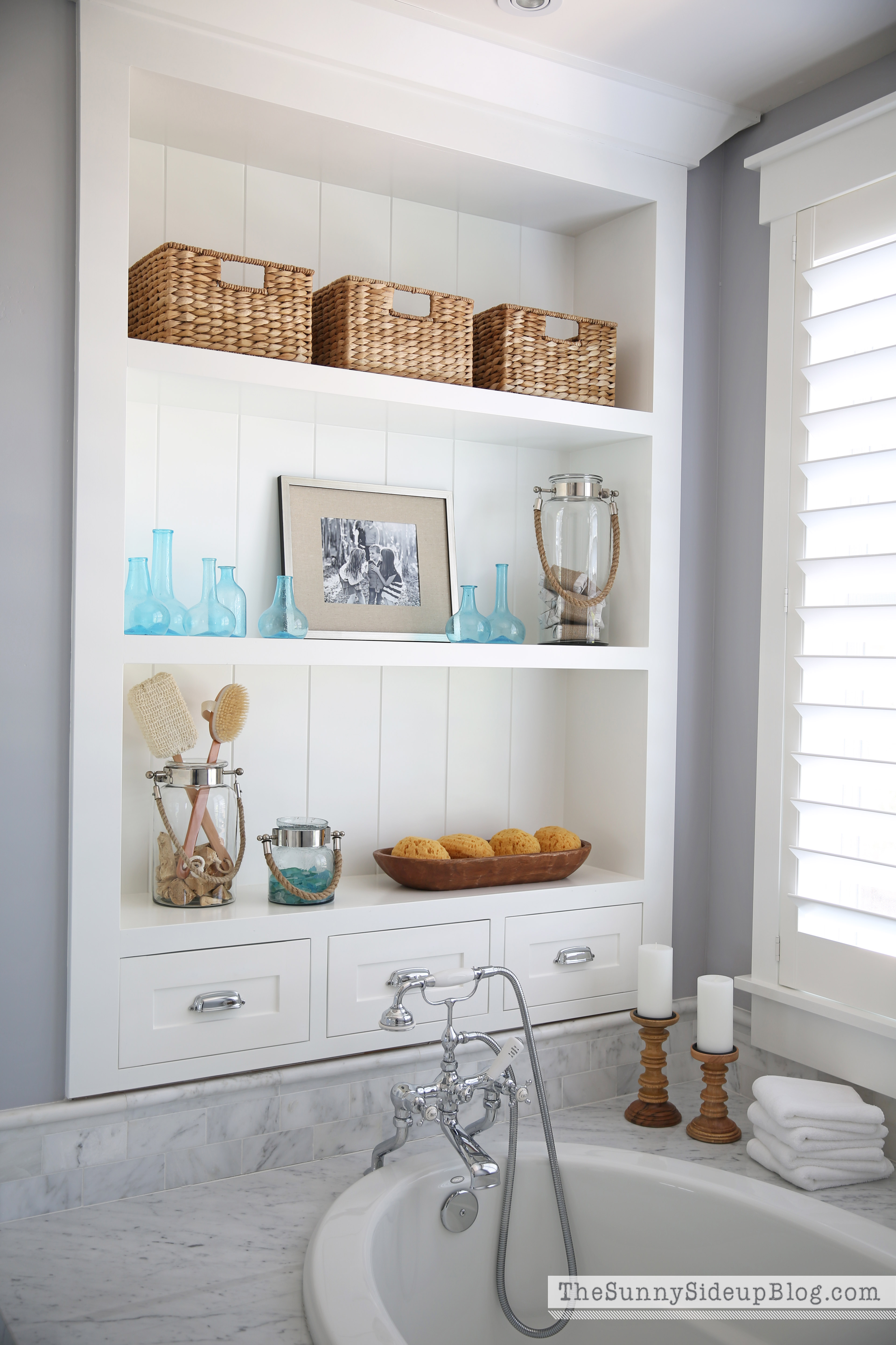 Best Master Bathroom Shelves Tub The Sunny Side Up Blog This Month