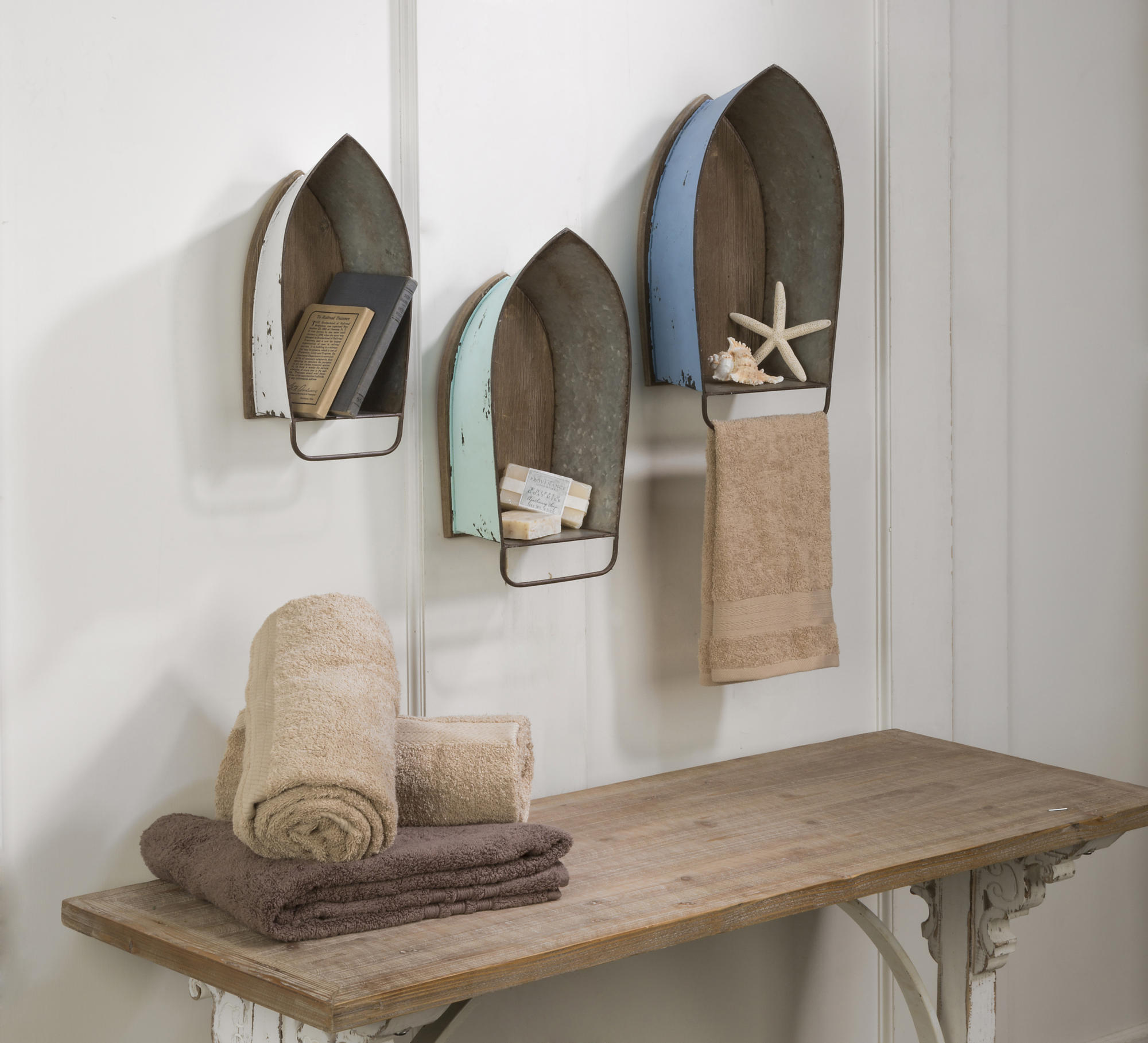 Best Distressed Metal Boat Shelf And Wall Decor Tripar This Month