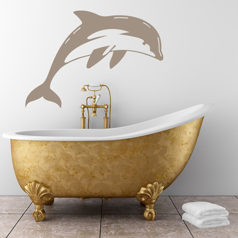 Best Diving Dolphin Wall Sticker Animal Wall Art This Month