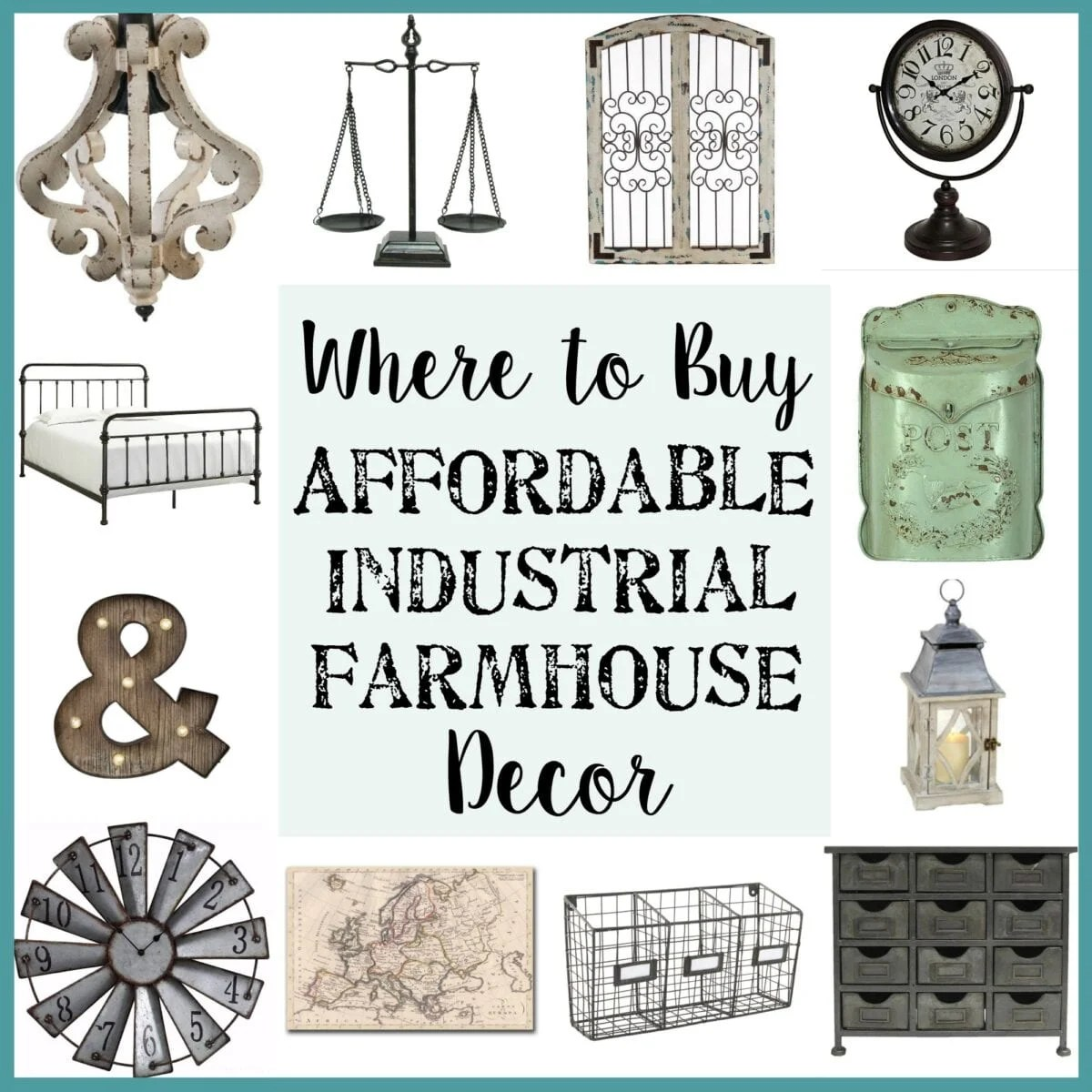 Best Where To Buy Affordable Industrial Farmhouse Decor Bless This Month
