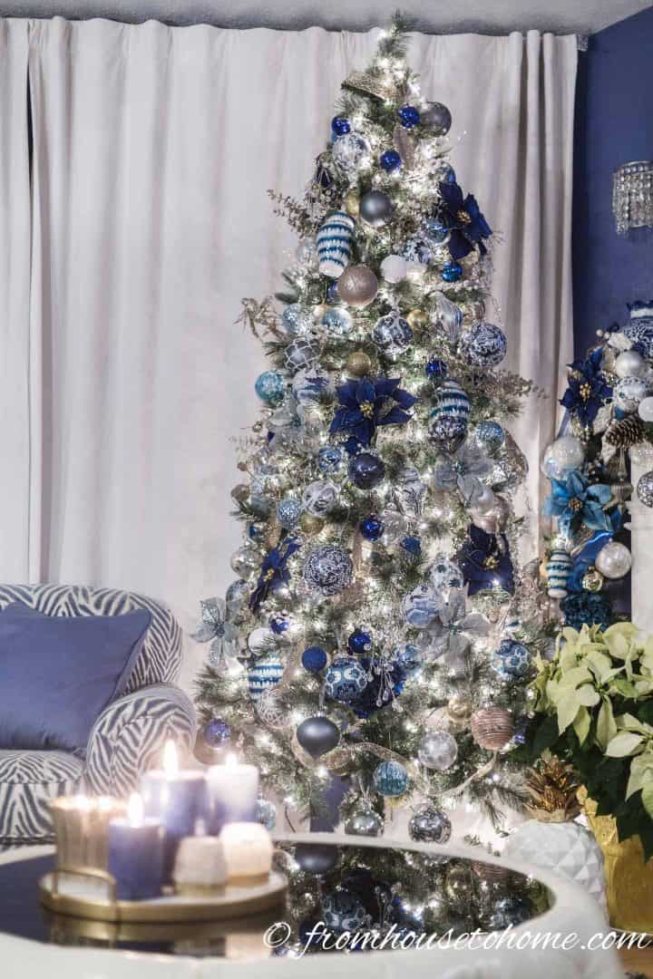 Best Beautiful Blue And White Christmas Home Decorating Ideas This Month