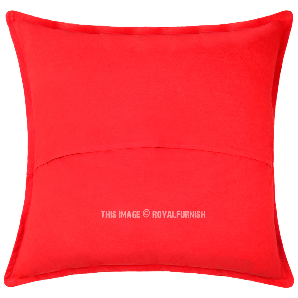 Best 24X24 Inch Decorative Red Mirror Embroidered Cotton Square This Month
