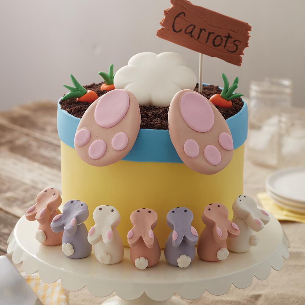 Best Bunny B*Tt Cake Easter Cake With Bunny Treats Wilton This Month