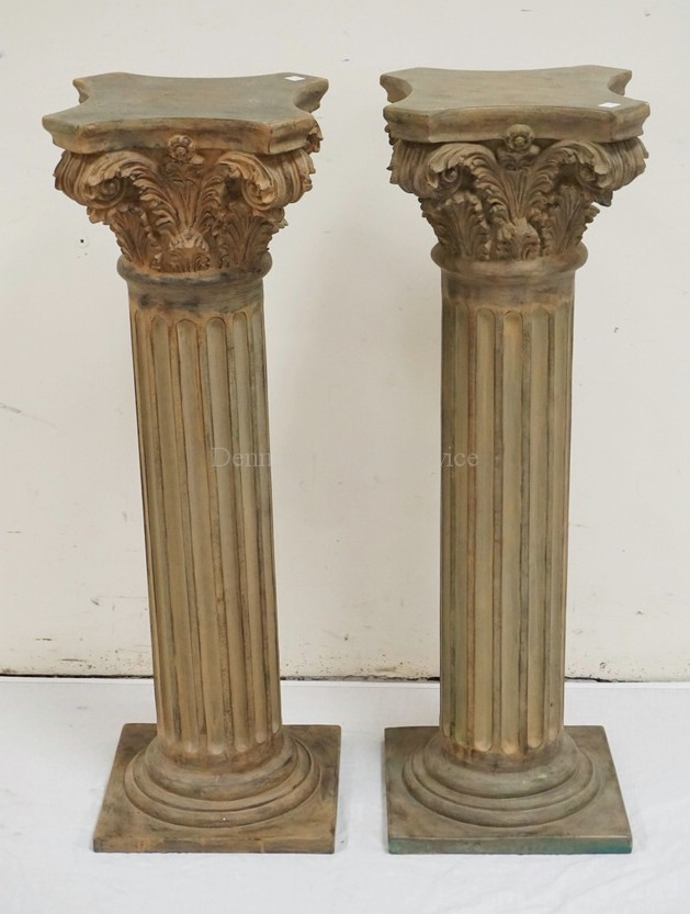 Best Decorative Pair Of Corinithian Column Pedestals 35 1 4 Inch This Month