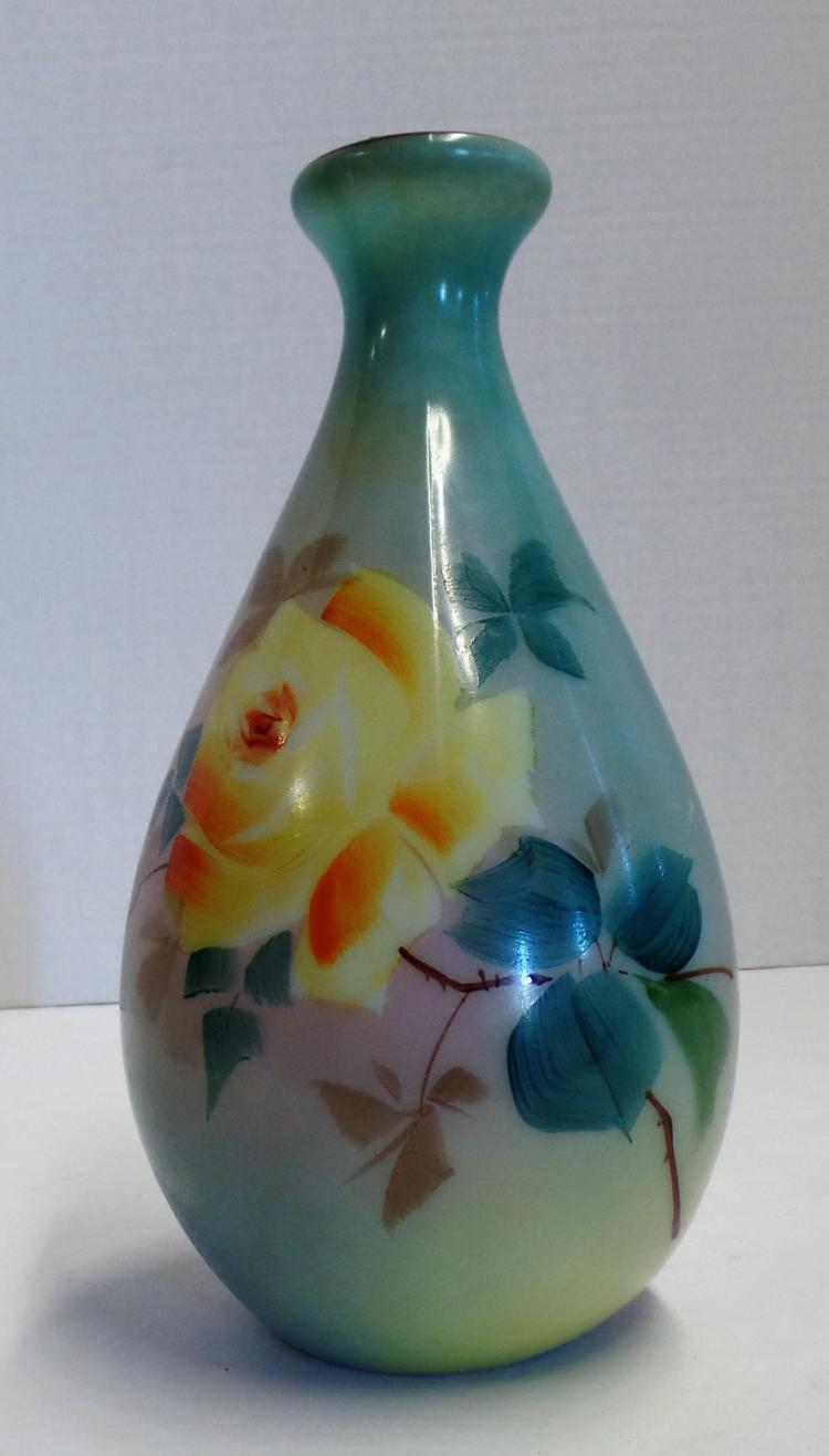 Best Vintage 8 Colored Glass Vase With Floral Design That Is Bea This Month