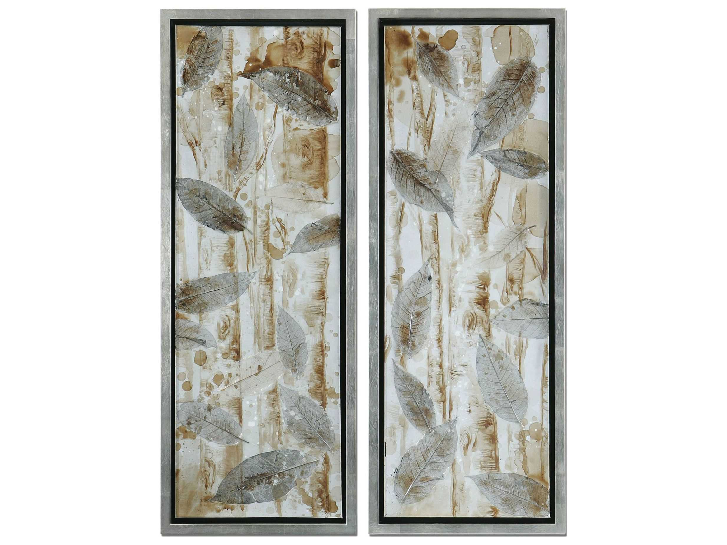 Best Uttermost Pressed Leaves Wall Art 2 Piece Set Ut41412 This Month