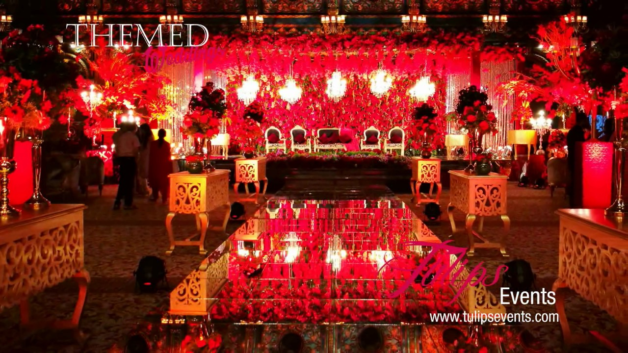 Best Royal Red Theme Reception Stage Backdrop Setup Ideas In This Month