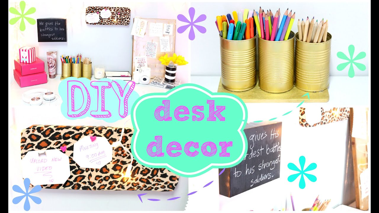 Best Diy Desk Decor Easy Inexpensive Youtube This Month