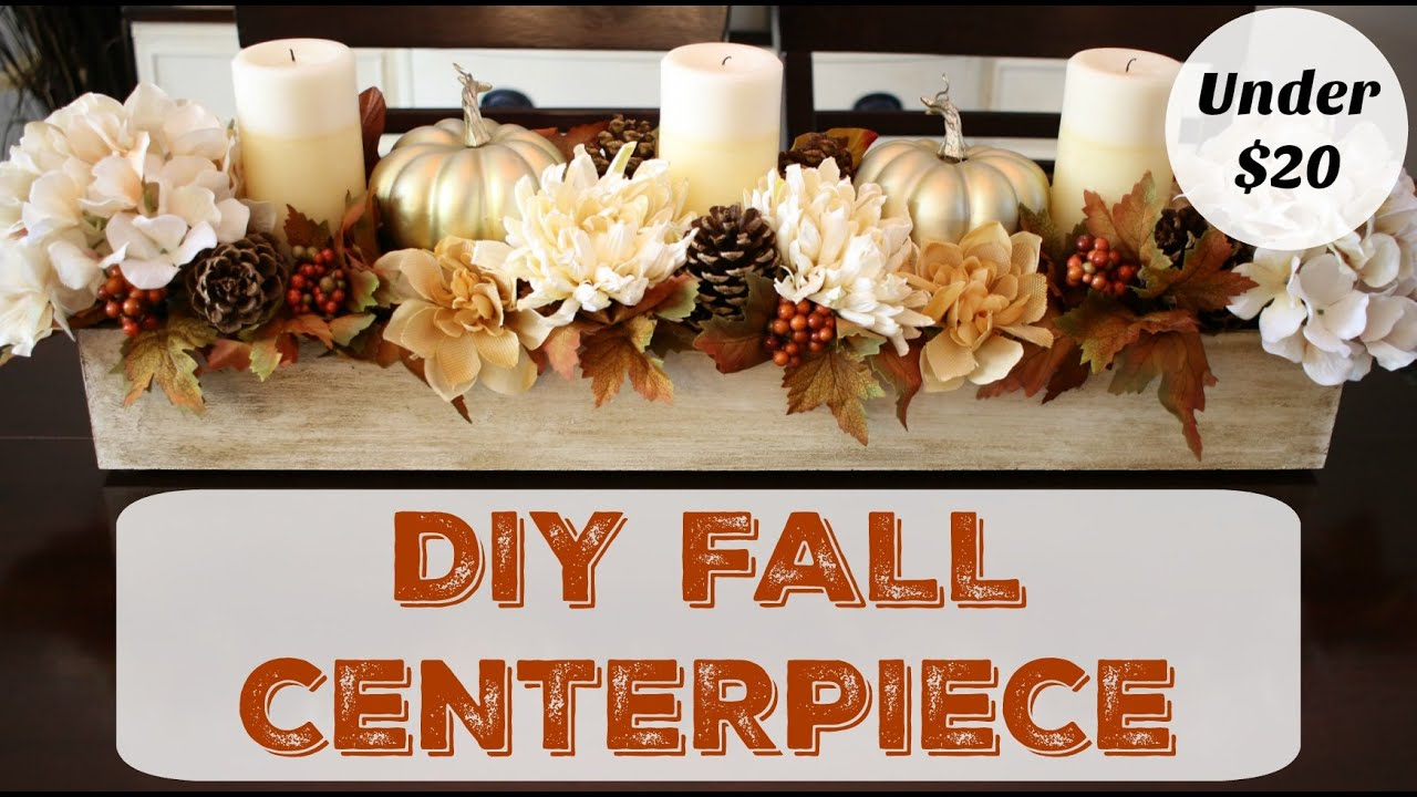 Best How To Make A Fall Centerpiece Dollar Store Decor Youtube This Month