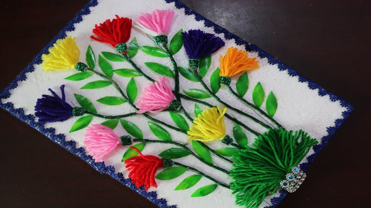 Best Diy Arts And Crafts How To Make Wall Showpiece For Home This Month