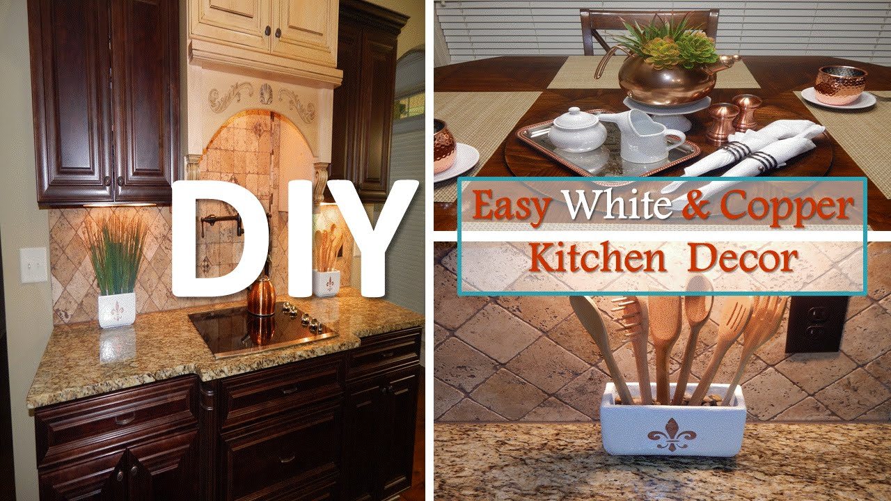 Best Diy Easy White And Copper Kitchen Decor With Dollar Tree This Month