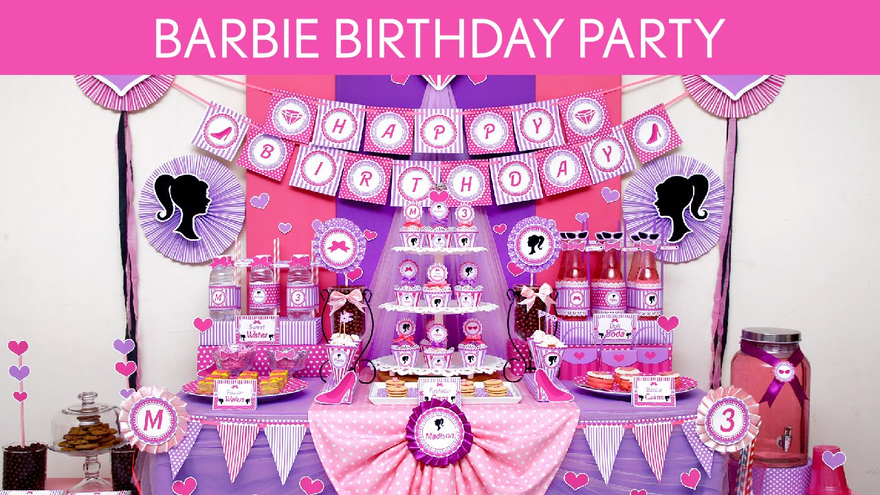 Best Barbie Birthday Party Ideas Barbie B129 Youtube This Month
