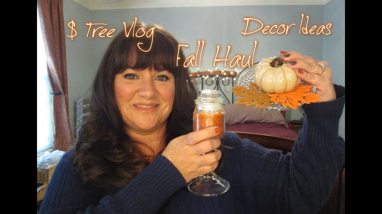 Best Dollar Tree Vlog Fall Decor Haul And Decorating Ideas This Month
